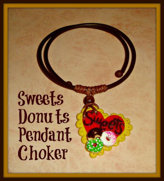 Sweet Heart Polymer Pendant - Gummy Rubber Necklace
